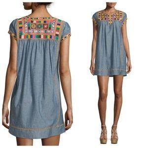 Calypso St Barth Ariadne Embroidered Shift Dress